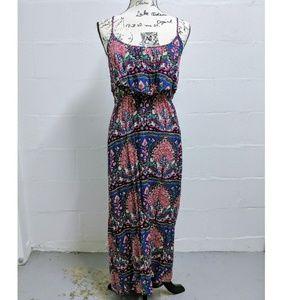 Mimi Chica Hi-Lo Paisley Floral Maxi Dress